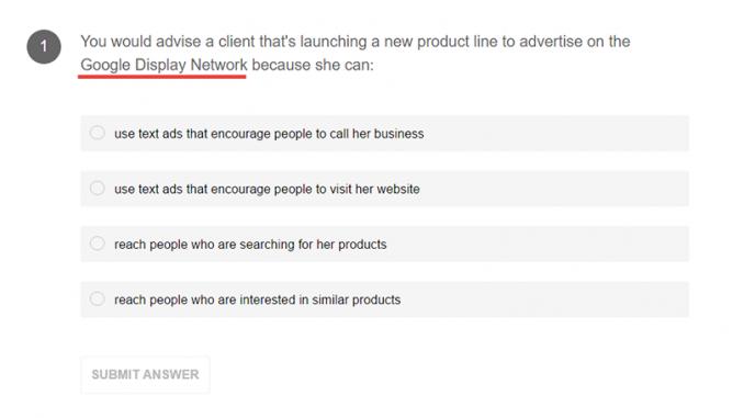 เฉลย Google AdWords - ข้อสอบ 001