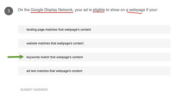 แนวข้อสอบ Google AdWords 003